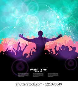 Music event illustration. Vector