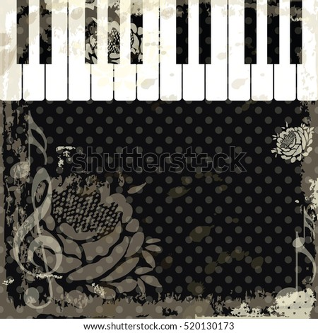 Music Event Piano Template Background With Keys Keyboard Abstract