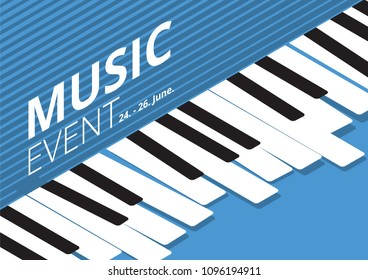 Music Event Poster Isometric Vector illustration