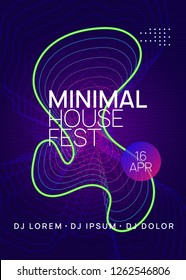 Music fest. Energy show banner design. Dynamic gradient shape and line. Music fest neon flyer. Electro dance. Electronic trance sound. Techno dj party. Club event poster.