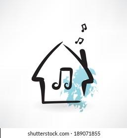 music house grunge icon