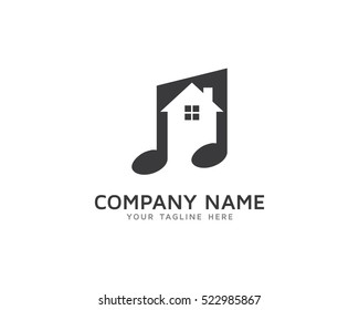 Music House Logo Design Template
