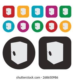Music icon / cajon drum icon