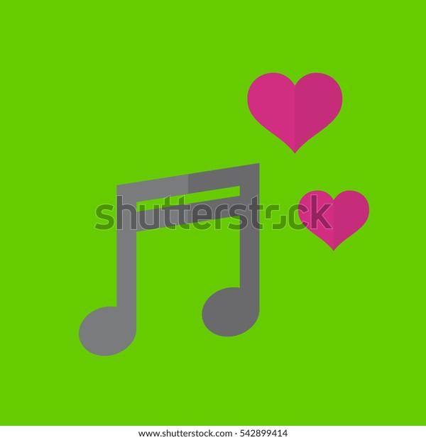 music icon flat disign