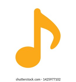 music icon. flat illustration of music vector icon for web