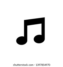 Music icon in the form of notes on a transparent background. Vector illustration. EPS 10