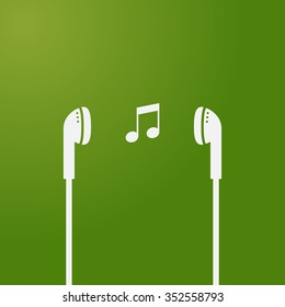 music icon headset earphone headphone