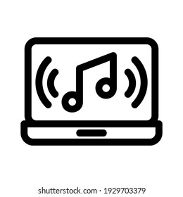 music icon or logo isolated sign symbol vector illustration - high quality black style vector icons