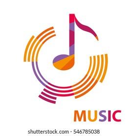 Music, music icon, note, sound, sound amplitude. Flat design, vector illustration, vector.