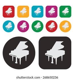 Music icon / piano icon