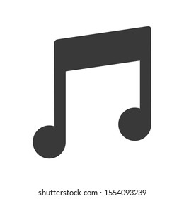Music icon symbol in simple vector style