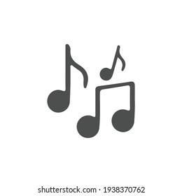 music icon vector design element logo template