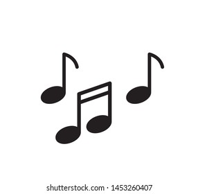 Music icon vector flat illustration