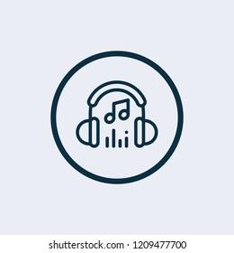 Music icon. Vector illustration