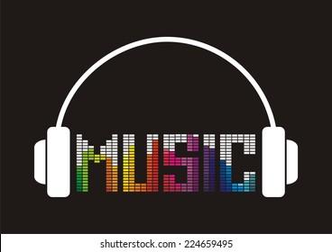 Music icon. Vector illustration.