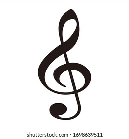 music icon vector illustration black and white