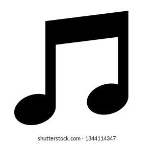 Music icon. Vector icon of musical note