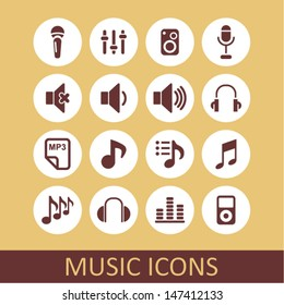 Music icons for app