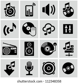 Music icons set.