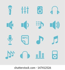 Music icons for web