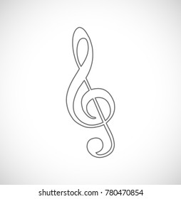 music key outline icon