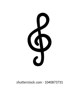 Music key. Treble clef