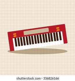 music keyboard theme elements vector,eps