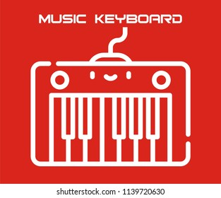 MUSIC KEYBOARD VECTOR ICON