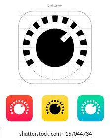 Music knob icon. Vector illustration.