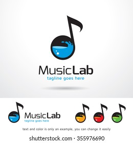 Music Lab Logo Template Design Vector