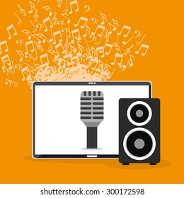 music lifestyle design, vector illustration eps10 graphic