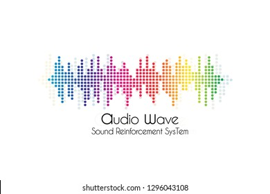 Music Logo concept sound wave, studio, music, DJ, audio system, store, party. Brand, branding, company, corporate, identity, logotype. Clean and modern stylish design - Vector