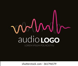 Music Logo concept sound wave, studio, music, DJ, audio system, store, party. Brand, branding, company, corporate, identity, logotype. Clean and modern stylish design