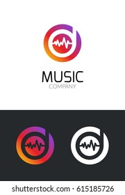 Music logo design concept. Business creative icon for musical company.