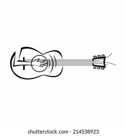 Electric Guitar Icon Guitar Logo Template Stock Vector Royalty Free