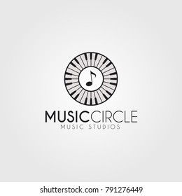 Music logo with modification musical instrument