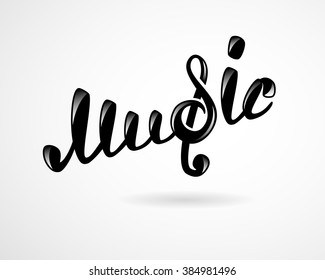 Music logo on white