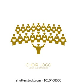 Music logo. Singing the choir.