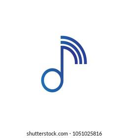 Music Logo Template Design. Vector Illustration