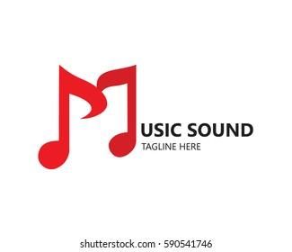 Music logo vector icon
