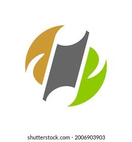 music notation logo like ying yang