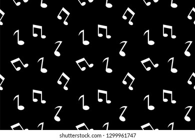 music notation pattern collection, trendy vector illustration in flat style for wrapping paper, textile printing, wallpaper