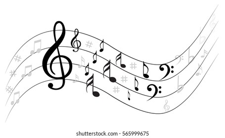 Musical Notes Background Stock Vector Royalty Free 80287030