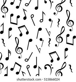 Music note background design