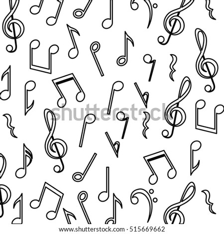 Music Note Background Design Stock Vector Royalty Free 515669662