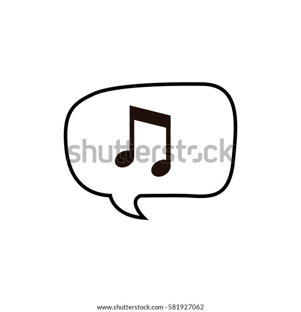 Music note in bubble icon vector illustration graphic design