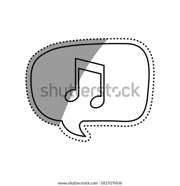 Music note in bubble icon vector illustration graphic design icon vector illustration graphic design