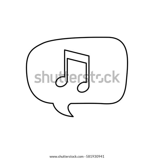 Music note in bubble icon vector illustration graphic design