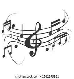 music note design on white background