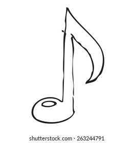 Music note doodle